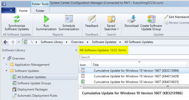 Configuring WSUS with SCCM Current Branch (Server 2016) – Part I